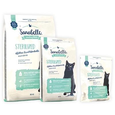 تصویر غذای خشک مخصوص گربه بالغ Sanabelle مدل Sterilized مناسب برای گربه های عقیم شده - 400 گرم