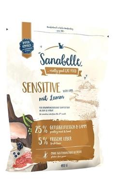 تصویر غذای خشک مخصوص گربه بالغ Sanabelle مدل Sensitive مناسب برای گربه های بد اشتها تهیه شده از گوشت گوسفند - 2 کیلوگرم