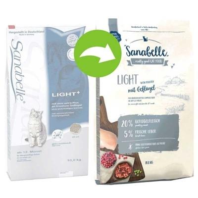 تصویر غذای خشک مخصوص گربه بالغ Sanabelle مدل Light مناسب برای گربه های دارای اضافه وزن - 2 کیلوگرم