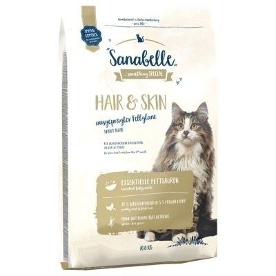 تصویر غذای خشک مخصوص گربه بالغ Sanabelle مدل Hair & Skin برای مراقبت از پوست و مو - 2 کیلوگرم