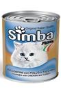 تصویر کنسرو مخصوص گربه Simba تهیه شده از گوشت مرغ و بوقلمون 820 گرم