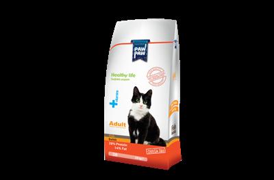 تصویر غذای خشک Paw Paw مخصوص گربه بالغ با طعم ماهی - 1.5 کیلوگرمی