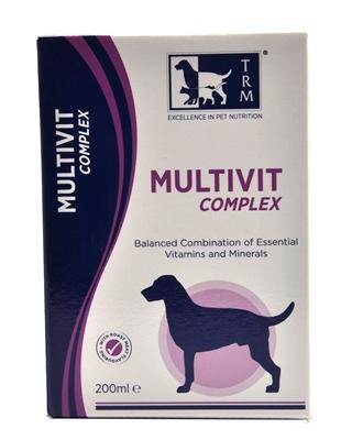 تصویر شربت مولتی ویتامین مخصوص سگ TRM مدل Multivit Complex بسته 500 میلی لیتر