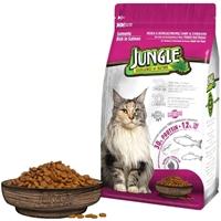 تصویر غذای خشک Jungle مخصوص گربه عقیم شده با طعم ماهی سالمون - 500 گرم