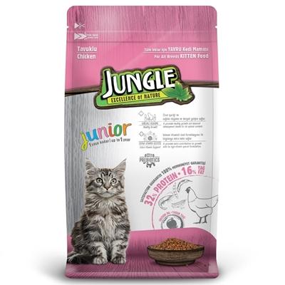تصویر غذای خشک مخصوص بچه گربه Jungle با طعم مرغ - 500 گرم