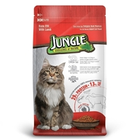 تصویر غذای خشک Jungle مخصوص گربه بالغ با طعم گوشت گوسفند - 500 گرم
