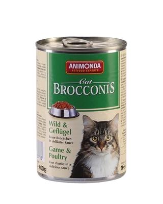 تصویر کنسرو Animonda مدل Brocconis مخصوص گربه حاوی گوشت شکار و پرندگان-400 گرم - copy