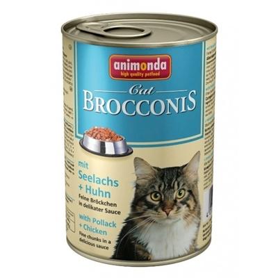 تصویر کنسرو Animonda مدل Brocconis مخصوص گربه حاوی گوشت مرغ و ماهی پالاک - 400 گرم