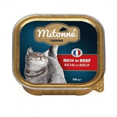 تصویر ووم گربه Mitonne با طعم گوشت گوساله