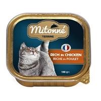 تصویر ووم گربه Mitonne با طعم مرغ