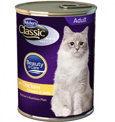 تصویر کنسرو Butchers مخصوص گربه بالغ مدل Beauty & Care با طعم مرغ