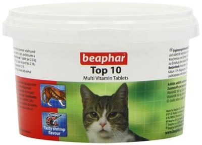 تصویر قرص مولتی ویتامین Beaphar مدل Top10 مخصوص گربه - 180 عددی