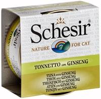 تصویر کنسرو Schesir مخصوص گربه با ماهی تن و جینسینگ - 70 گرم