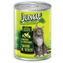 تصویر کنسرو مخصوص گربه Jungle تهیه شده از مرغ و سبزیجات - 415 گرم