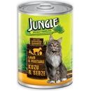 تصویر کنسرو مخصوص گربه Jungle تهیه شده از گوشت بره و سبزیجات - 415 گرم