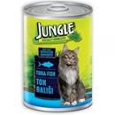 تصویر کنسرو مخصوص گربه Jungle تهیه شده از ماهی تن - 415 گرم