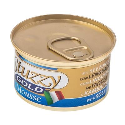 تصویر کنسرو مخصوص گربه Stuzzy با طعم ماهی Sole مدل Gold Mousse