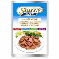 تصویر پوچ مخصوص گربه stuzzy با طعم ماهی سالمون - 100 گرم