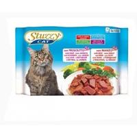 تصویر بسته پوچ با طعم گوشت گاو و ژامبون Stuzzy مخصوص گربه بالغ - بسته 4 عددی
