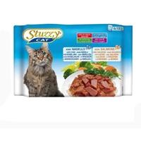 تصویر بسته پوچ با طعم ماهی کد و ماهی سالمون در آب گوشت Stuzzy مخصوص گربه بالغ - بسته 4 عددی