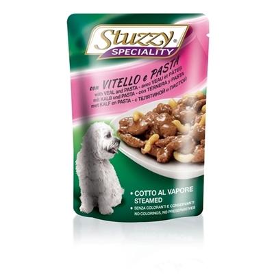 تصویر پوچ stuzzy با طعم گوشت گاو و پاستا مخصوص سگ - 100 گرم
