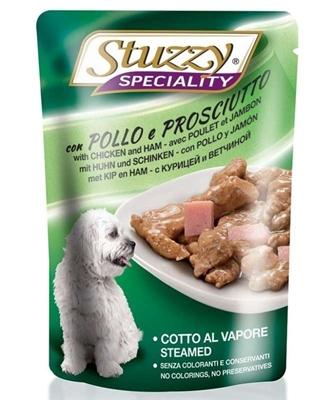 تصویر پوچ stuzzy با طعم مرغ و ژامبون  مخصوص سگ  - 100 گرم