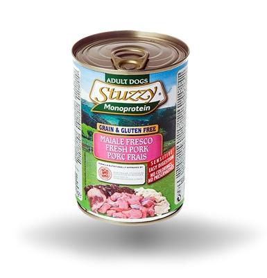 تصویر کنسرو گوشت خوک stuzzy مدل Monoprotein  مخصوص سگ - 400 گرم