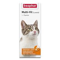 تصویر شربت مولتی ویتامین ,و تورین Beaphar  مدل Multi-Vit مخصوص گربه - 50mil