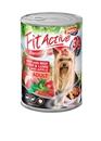 تصویر کنسرو Panzi مخصوص سگ بالغ با طعم گوشت و جگر و سیب - 415گرم