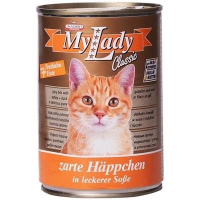 تصویر کنسرو My Lady مخصوص گربه بالغ با طعم گوشت اردک و بوقلمون
