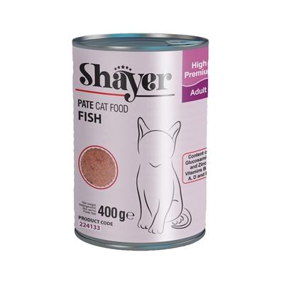 تصویر کنسرو Shayer مخصوص گربه با طعم ماهی 400 گرمی