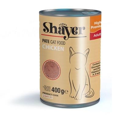 تصویر کنسرو Shayer مخصوص گربه با طعم مرغ 400 گرمی