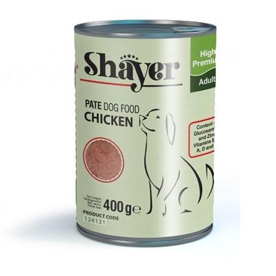 تصویر کنسرو Shayer مخصوص سگ بالغ با طعم مرغ 400 گرم
