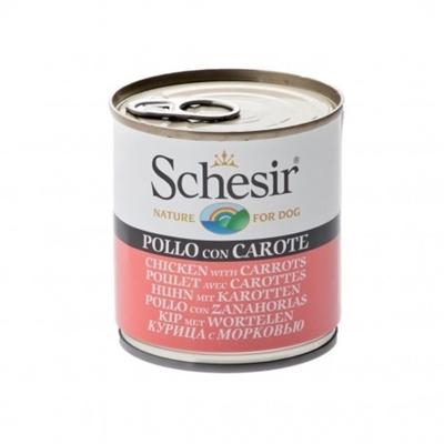 تصویر کنسرو Schesir مخصوص سگ با طعم مرغ و هویج