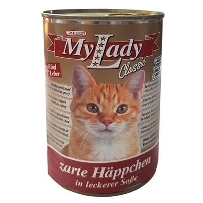 تصویر کنسرو My Lady مخصوص گربه بالغ با طعم گوشت گوساله و جگر - 415 گرم