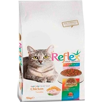 تصویر غذای خشک Reflex مخصوص گربه بالغ تهیه شده از گوشت مرغ - 15 کیلوگرم