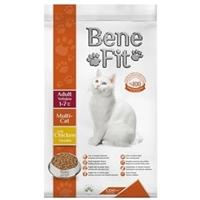 تصویر غذای خشک Benefit مخصوص گربه بالغ مدل MultiCat با طعم مرغ 1.5 کیلویی