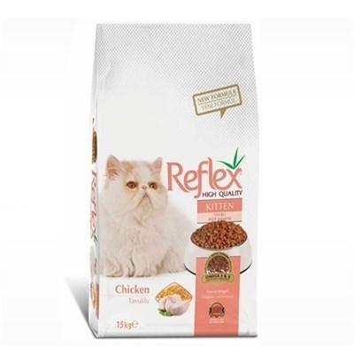 تصویر غذای خشک Reflex مخصوص بچه گربه تهیه شده از گوشت مرغ - 15 کیلوگرم