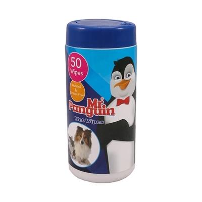 تصویر دستمال مرطوب 50تایی Mr.Pinguin مخصوص حیوانات - 50عدد