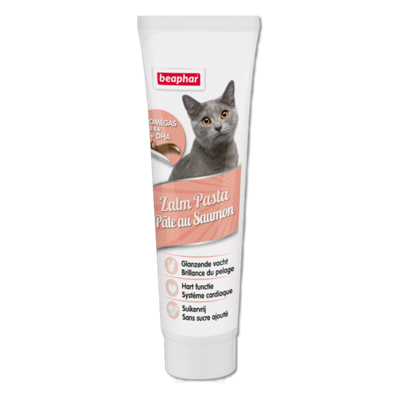 تصویر اسنک خمیری Beaphar مخصوص گربه با طعم ماهی سالمون تقویت کننده پوست و مو