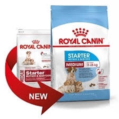 تصویر غذای خشک رویال کنین مدل Medium Starter مخصوص توله سگ و سگ ماده شیرده نژاد متوسط - 4 کیلوگرم