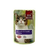 تصویر پوچ گربه Dein bestes ماهی قزل آلا در سس- 100گرم