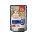 تصویر پوچ گربه Dein bestes تهیه شده از ماهی کیلکا در سس - 100 گرم