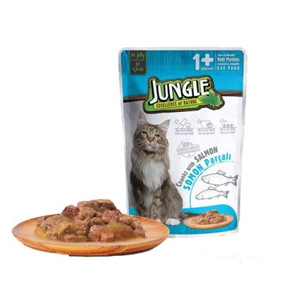 تصویر پوچ گربه Jungle با طعم ماهی سالمون - 100گرم