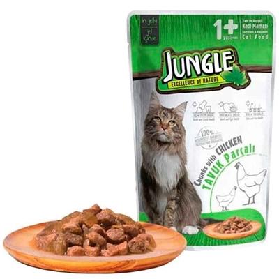 تصویر پوچ گربه Jungle با طعم مرغ - 100 گرم
