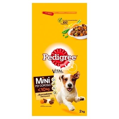 تصویر غذای خشک Pedigree مخصوص سگ بالغ تهیه شده از گوشت مرغ -2کیلوگرم