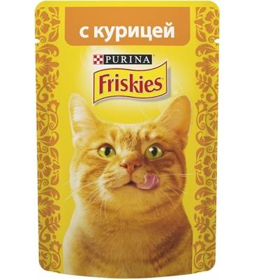 تصویر پوچ friskeis مخصوص گربه تهیه شده از مرغ - 85 گرم
