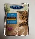 تصویر پوچ winston تهیه شده از گوشت گاو در ژله مرغ مخصوص گربه - 100 گرم