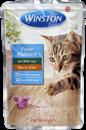 تصویر پوچ  winston تهیه شده از گوشت شکار در ژله مخصوص گربه- 100 گرم