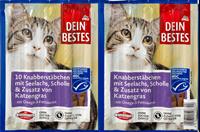 تصویر تشویقی Dein Bestes مخصوص گربه تهیه شده از ماهی قزل آلا و علف گربه - 50گرم